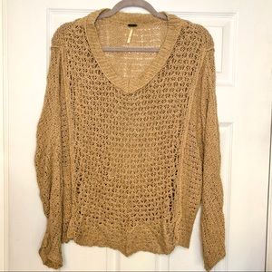 Free People Cozy Cotton Pullover Sweater